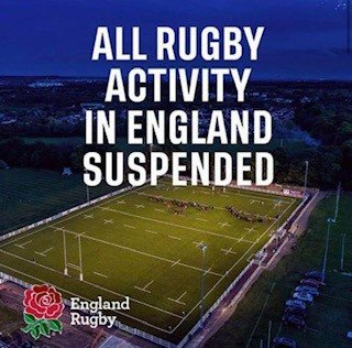 Update following the suspension of rugby